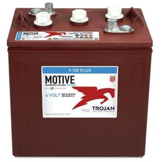T-105 PLUS - 6V 225AH TROJAN DEEP CYCLE FLOODED BATTERY